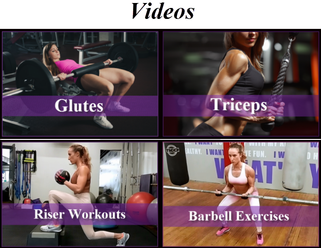 Exercise and workout videos for women